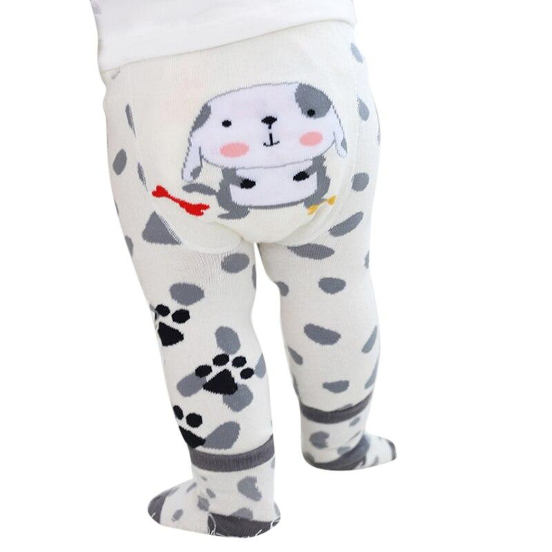 Winter Warm Toddler Bottoms Set Boy Girls Baby Cartoon Print Legging Warm Stocking Children Pantyhose Slim PP Pants
