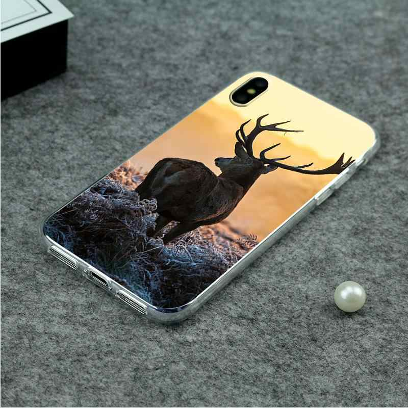 Водонепроницаемый олень телефон чехол для Huawei p10/P8lite/P10lite/honor6A/honor9 ТПУ Мягкая задняя крышка