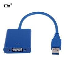 Super Speed USB 3.0 naar VGA Video Grafische Kaart Display Externe Cable Adapter voor Windows 7 WIN8