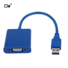 Super Speed USB 3.0 to VGA Video Graphic Card Display External Cable Adapter for Windows 7 WIN8