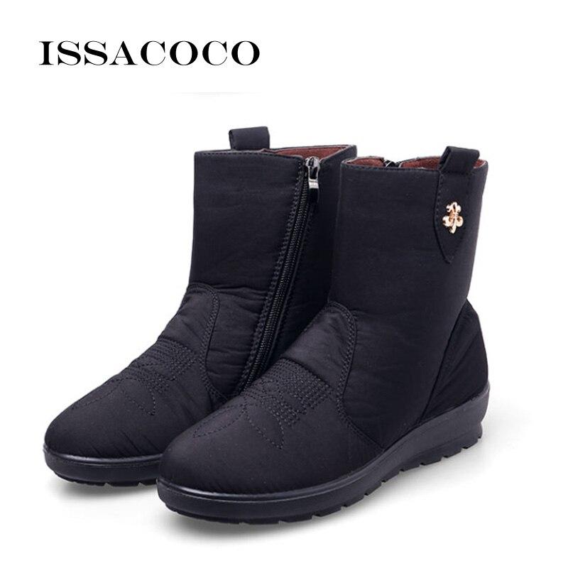 Plantilla brown De blue Señoras 42 Niñas Nieve Felpa Las Invierno Mujer 2018 Botas Black red 39 gray Zapatos Hembra Issacoco Mujeres Impermeable tHUOqwW