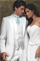 Последние конструкции пальто брюки белый костюм Для мужчин s Нарядные Костюмы для свадьбы 3 предмета Формальные смокинг жениха красивый жен