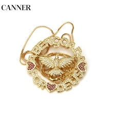 CANNER Holy Religious Pendant Necklaces For Man Women Jesus Statement Necklace Jewelry Eagle Amulet Christ Retro Ashes Zircon R4
