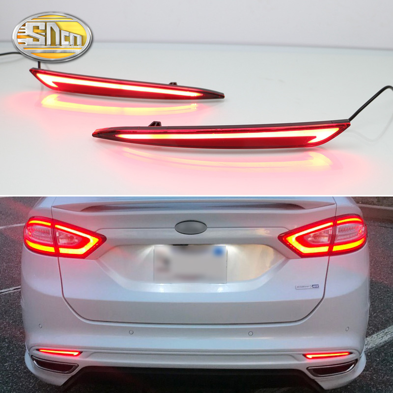 Untuk Ford Mondeo Fusion 2013 2014 2015 2016 2017 2018 LED Bumper Light Rear Fog Lamp Brek Light Turn Reflector Light Signal