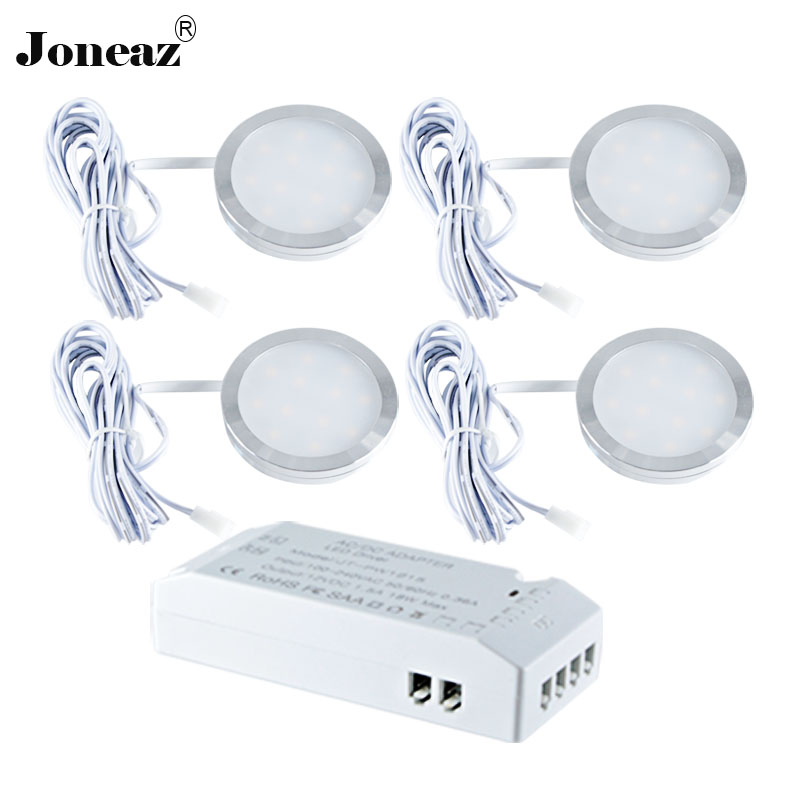 1 set Led under cabinet light for kitchen closet wardrobe lichter kast lamp 110V 220V cupboard energy saving home 12V Joneaz