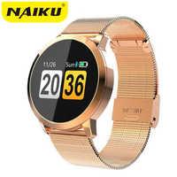NAIKU Q8 montre intelligente OLED couleur écran hommes mode Fitness Tracker fréquence cardiaque pression artérielle oxygène Smartwatch