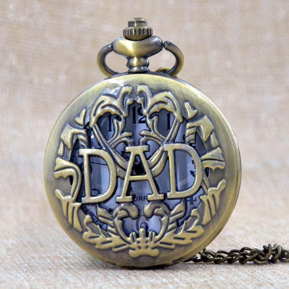 Reloj de moda 2016 Reloj de bolsillo Hollow Design Antique DAD Hombre - Relojes de bolsillo