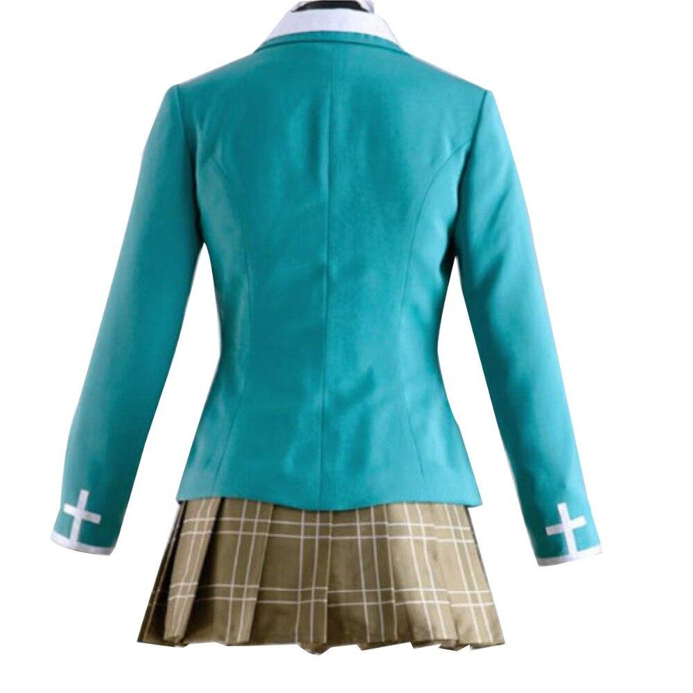 New Rosario and Vampire Cosplay Costume Capu 2 Akashiya Moka School Uniform Suit