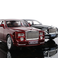 1:24 free shipping Rolls Royce Phantom Alloy Diecast Car Model Pull Back Toy Car model Electronic Car with light&sound Kids Toys