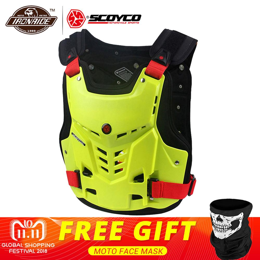 SCOYCO Motorcycle Armor Vest Motorbike Chest Back Protection Gear Motocross Armor Racing Vest Motorcycle Protector Equipment herobiker motorcycle jacket body armor motocross protective gear motocross off road racing vest moto armor vest black and white