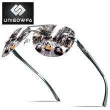 UNIEOWFA Male Rimless Aviation Sunglasses Men HD Polarized Silver Mirror Sports Eyewear UV400 Polaroid Sun Glasses For Men Pilot