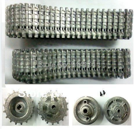 купить henglong 3879 3879-1 1/16 RC tank upgrade parts metal track + metal driving wheels full set 6pcs