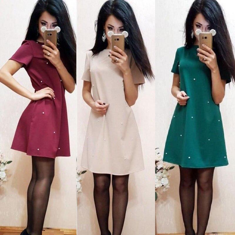 aisorig-outono-hot-sale-studded-frisada-vestido-mulheres-casual-o-pescoco-vestidos-de-manga-curta-slim-a-linha-do-partido-vestidos-de-roupas-s-xxxl