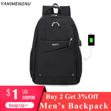 Men Backpack USB Charging 20- 40L Large Capacity Out Door Waterproof For Male Bag Casual Backpacks Black Travel