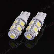 2Pcs High Quality T10 9 SMD 5050 W5W 194 501 LED Car Auto Clearance Interior Lights Wedge Door Instrument Side Bulb Lamp DC 12V