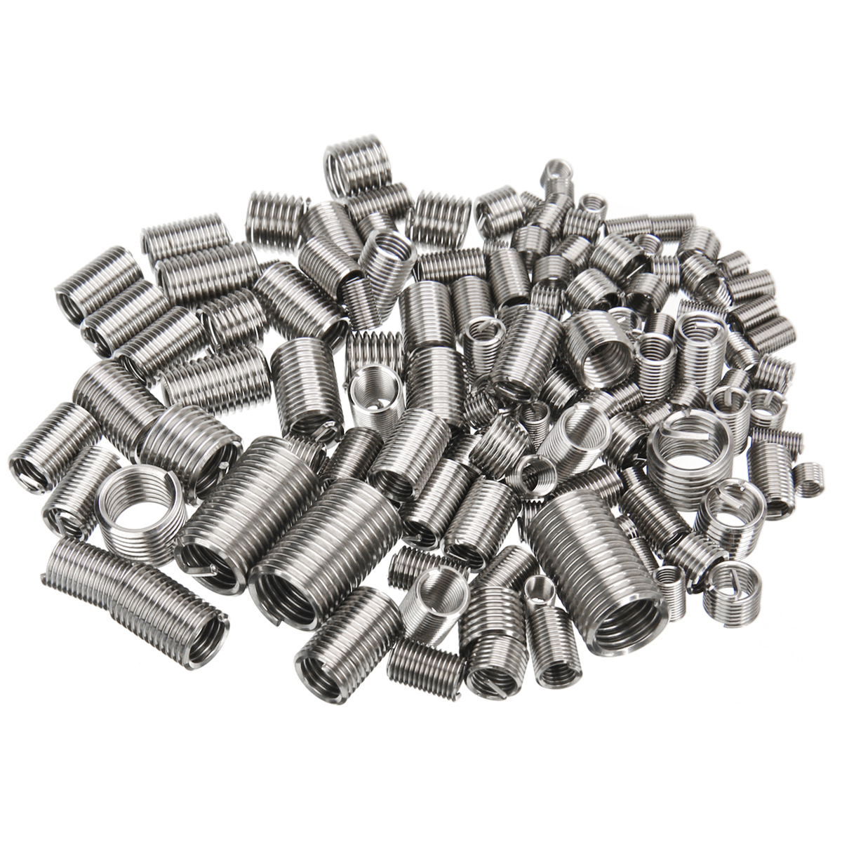 150pcs Stainless Steel Thread Repair Insert Kit M3 M4 M5 M6 M8 Helicoil Rivet Nut Kit