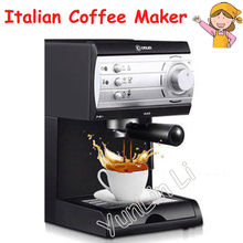 Pump Steam Coffee Maker Semi-Automatic Italian Coffee Machine 20Bar High-Pressure Pull Flower Coffee Machine Cafetera DL-KF6001