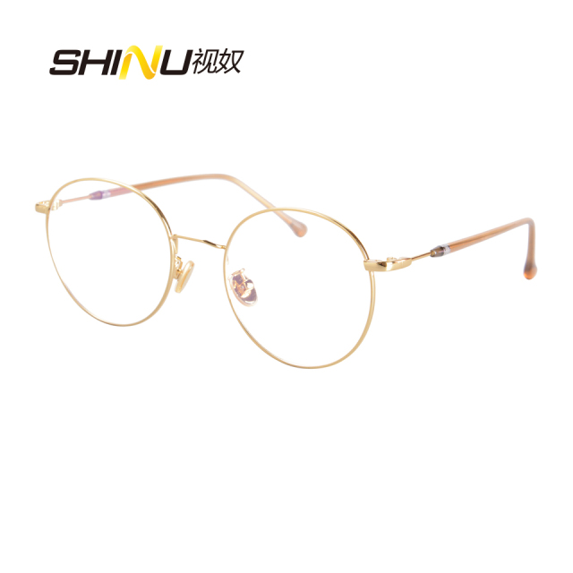 bb3c73a65f SHINU Glasses Retro Full Rim multicolor Optical Eyeglasses Frame Vintage  Spectacles Round Computer Glasses Unisex NO Degrees