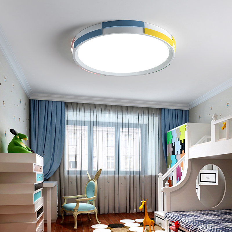 DX Modern Led Ceiling Light Round Lighting Fixture Kids Room Lights Lamp Remote Control Macaron Pulley Luminaire Dimmable Luster dx modern led pendant lights wood lighting fixture restaurant lights glass lamp nordic design luminaire white warm luster