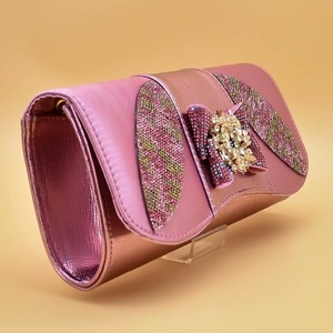 Image 3 - Pink Color Italian Shoes with Matching Bags High Quality Shoes and Bag Set African Sets 2019 Ladies Shoes with Matching  ZS 12