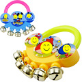 Cartoon baby rattle fingers stainless steel bell infant toys Premiums Gifts
