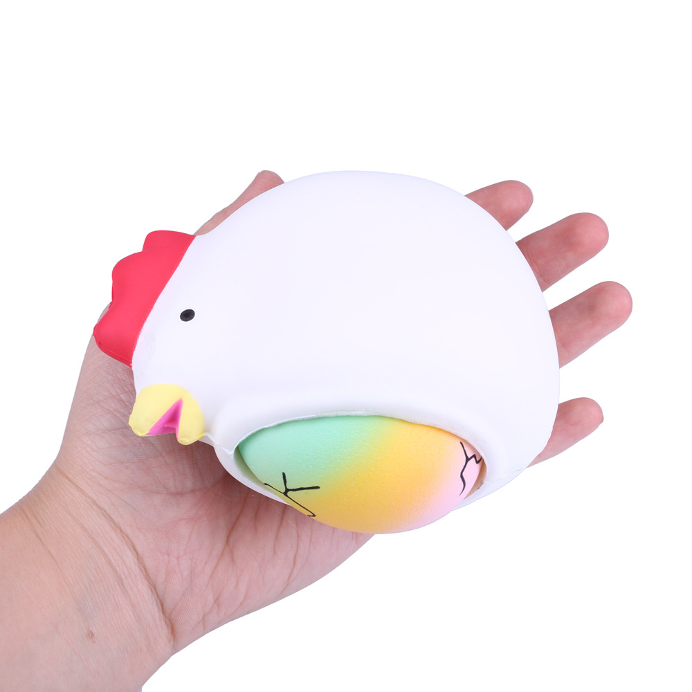 2 in 1 Surprise Hen Laying Starry Rainbow Eggs Creative Squishy Toy 17