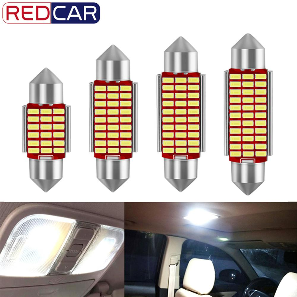 1Pc C5W LED C10W Car Interior Lights Canbus Festoon 31mm 36mm 39mm 42mm LED Bulbs Auto Lamp 12V 6000K White Car Interior Light