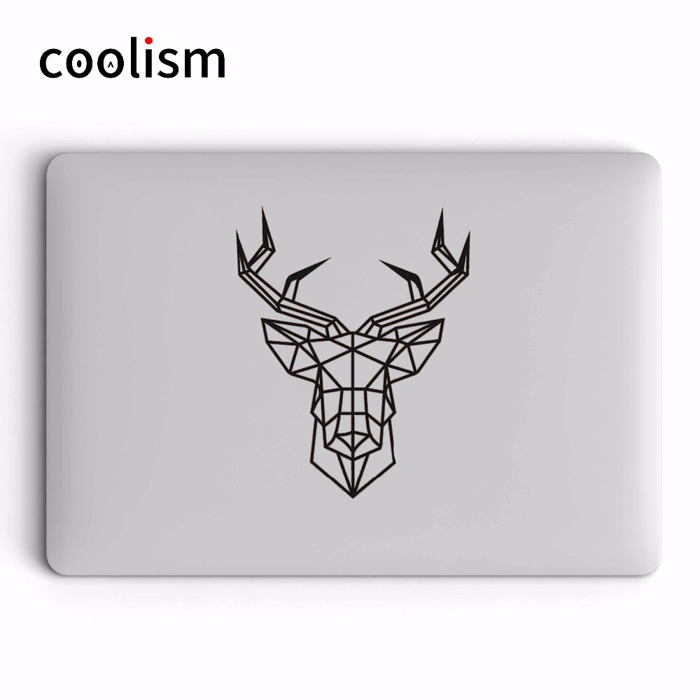 Geometric Deer Vinyl Laptop Decal Sticker for Apple Macbook Pro Air Retina 11 12 13 14 15 inch Hand-made Mac Notebook Skin Decal
