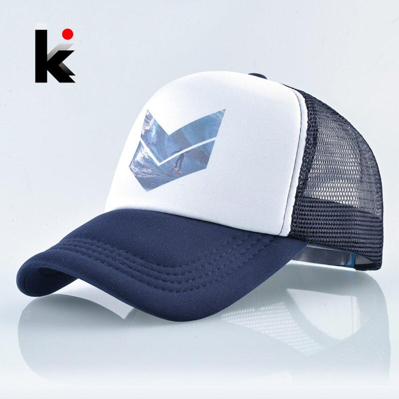 Sport Snapback Hat Baseball-Cap Mesh Racing-Cap Skateboard-Bone Trucker Outdoor Fashion