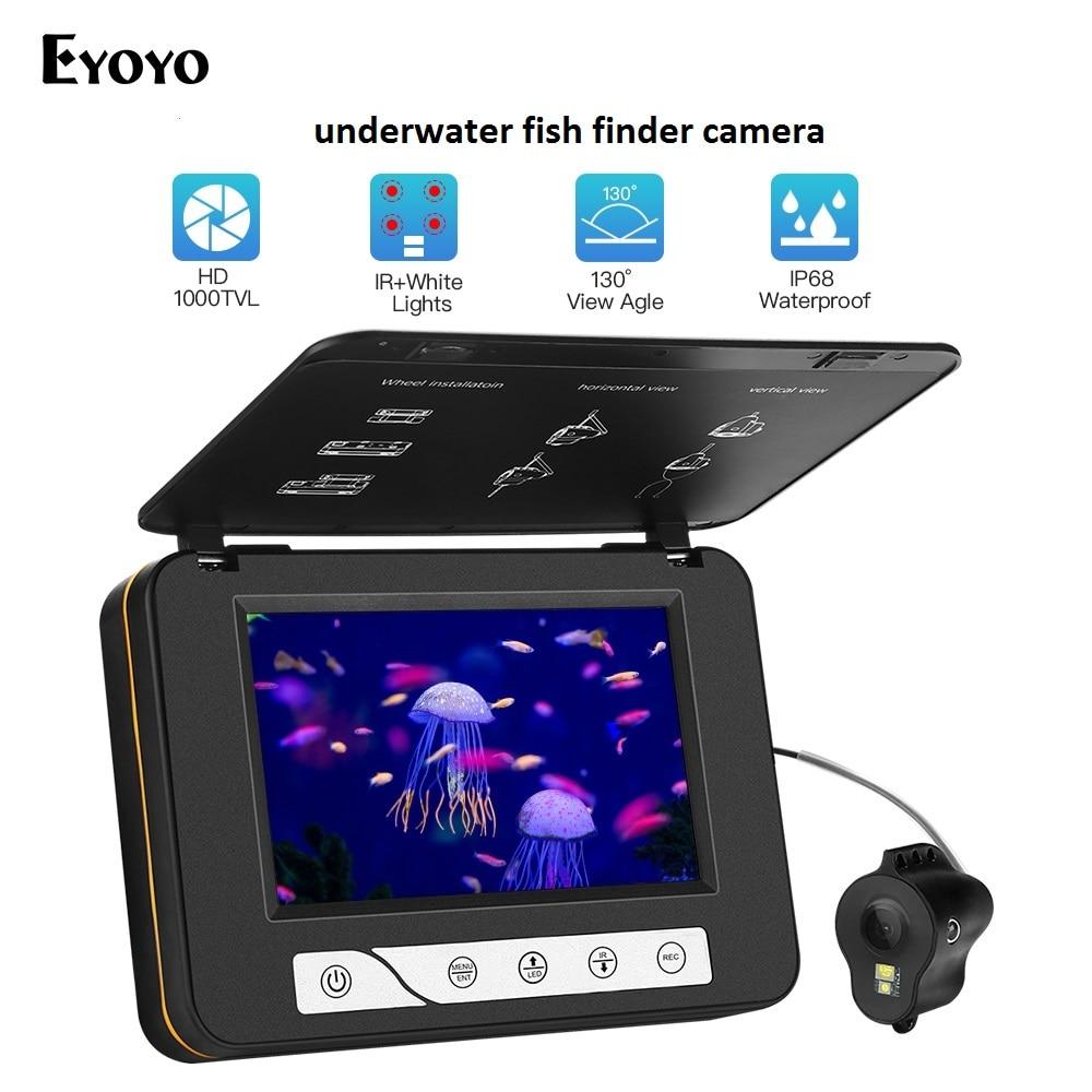 Eyoyo Original EF15R 15M 1000TVL Fishfinder Underwater Camera 5 LCD Monitor 6pcs Infrared Leds Night Vision Camera For Fishing
