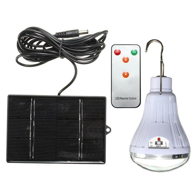 SMD2835 Rechargeable 20 LED Solaire Lumière Ampoule Accrochage Lampe ...