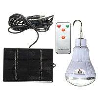 SMD2835 Ricaricabile 20 LED Lampadina Solare Aggancio Pannello Solare Lampada di Campeggio Esterna Della Lampada Giardino Illuminazione Viaggi Telecomando