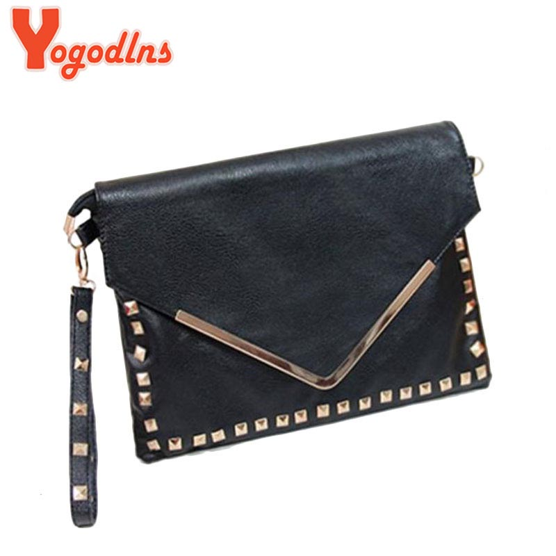 New & Hot ! Hot-selling fashion rivet big day clutch tote bag 2017 women's handbag small bag vintage envelope bag