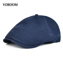 Lato bawełna płaska czapka bluszcz czapki mężczyźni gazeciarz kobiety klasyczny Design oddychający jednolity kolor Casual Beret tanie tanio Berety COTTON Dla dorosłych Unisex Na co dzień Stałe VOBOOM