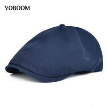 Summer Cotton Flat Cap Ivy Caps Men Newsboy Women Classic Design Breathable  Solid Color Casual Beret 3b9be6442255