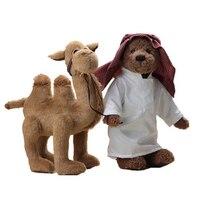 Мишки арабы кукла с плюшевой верблюда мягкая игрушка teddy bear гигантский kawaii Плюшевые животного кукла ручной работы