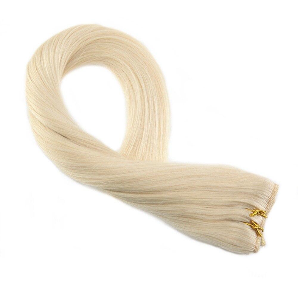 Aus Dem Ausland Importiert Moreso Blonde Farbe #60 Ein Stück Clip In Echthaar Extensions Menschliches Haar Doppel Schuss 3/4 Vollen Kopf Set 5 Stücke 50-70 Gramm