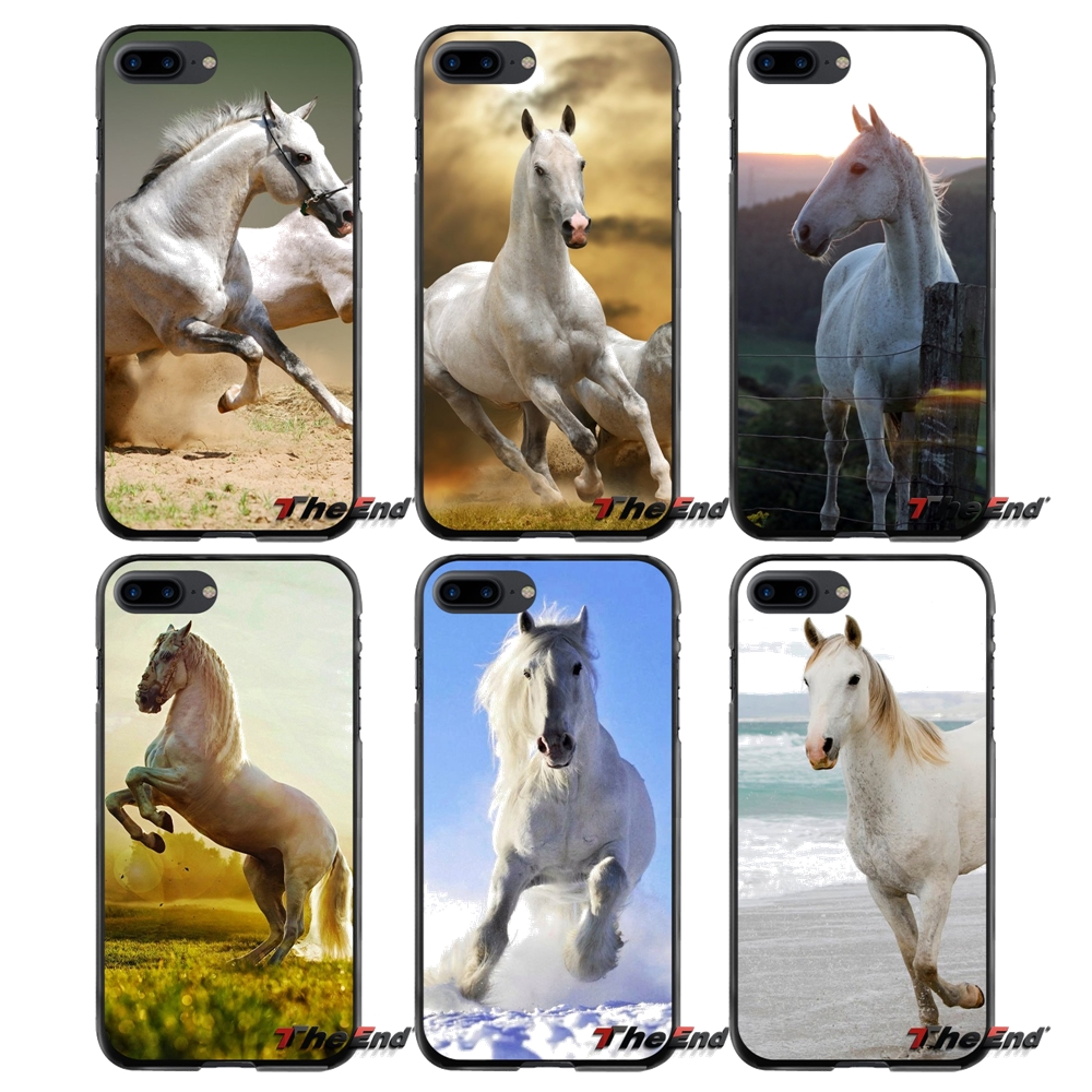 Accessories Phone Shell Covers For Apple iPhone 4 4S 5 5S 5C SE 6 6S 7 8 Plus X iPod Touch 4 5 6 White Horse