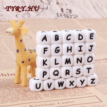 100pc Alphabet Silicone Chewing Beads For Teething Necklace Food Grade BPA Free Letter DIY Baby Name Baby Teether