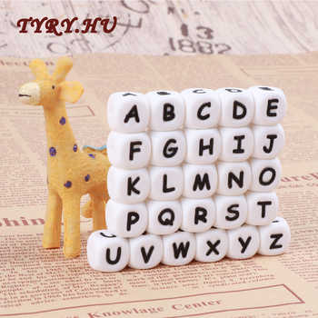 TYRY.HU 100pc Alphabet Silicone Chewing Beads For Teething Necklace Food Grade BPA Free Letter DIY Baby Name Baby Teether - DISCOUNT ITEM  35% OFF All Category