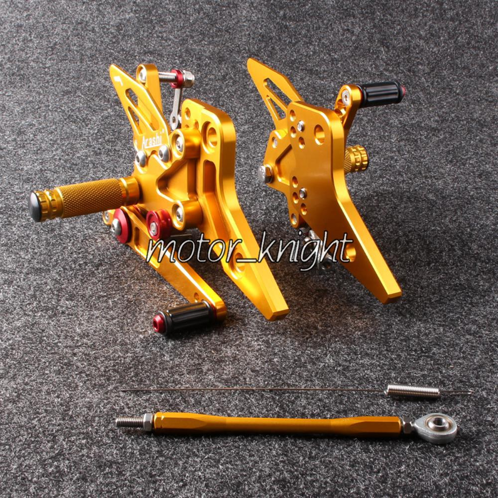 New Rearset Rear Set Foot Pegs For  Z800 2013 2014 Gold