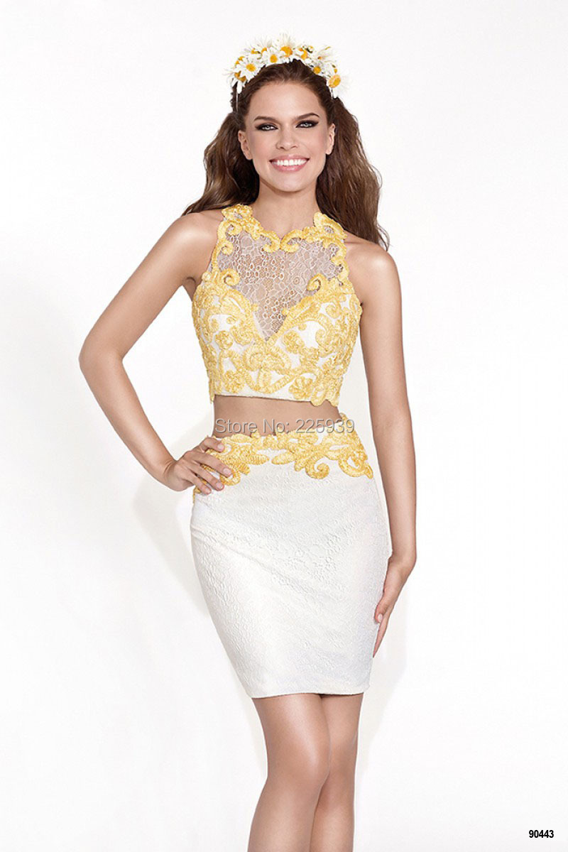 Compare Prices on Short Yellow Homecoming Dress- Online Shopping ...