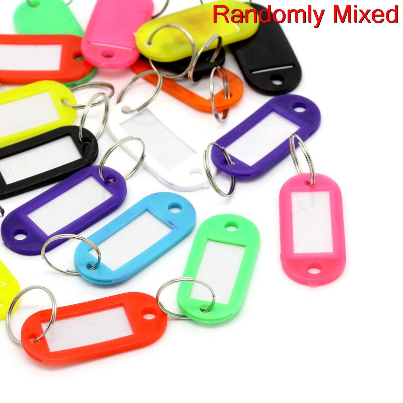 Alloy+Rubber+Paper Key Chains Key Rings Rectangle Mixed 6.6cm(2 5/8