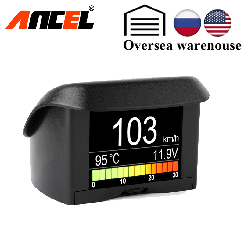Automobile On-board Computer ANCEL A202 Car Digital OBD Computer Display Speed Fuel Consumption Temperature Gauge ODB2 Scanner