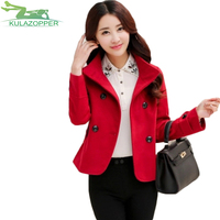 Bayan Kaban Real Winter Coat 2018 Women Coat New Spring Fashion Blend Double breasted Was Small Fragrance Righteous Jacket Xh58