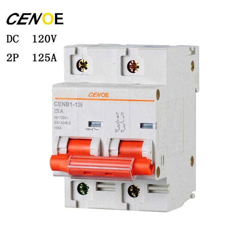 2 p DC120V 63A 80A 100A 125A DC circuit breaker mcb breaker per utente azionamento elettrico del veicolo globale spedizione gratuita