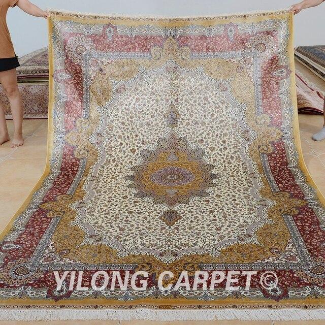 Yilong 6\'x9 \'Vantage annodati a mano rosa tappeto del salotto ...