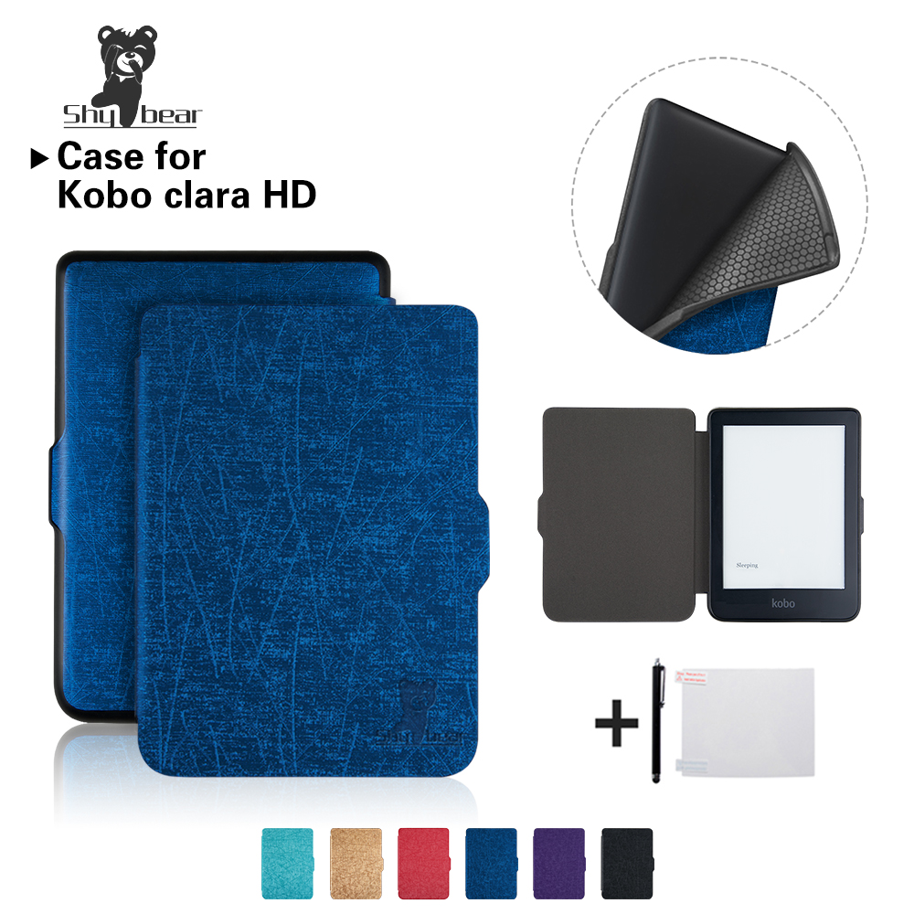 Case for New Kobo Clara HD 6 Inch TPU Ereader Solid Color Cover Case +free GiftCase for New Kobo Clara HD 6 Inch TPU Ereader Solid Color Cover Case +free Gift