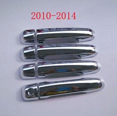 Para o estilo do carro Toyota Land Cruiser Prado FJ-150 2010 2012 2014 ABS Chrome maçaneta tampa do carro adesivos acessórios 8 pcs