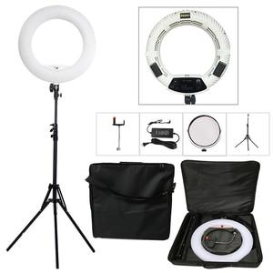 Yidoblo FS-480II 5500K био-цветная камера фото/Студия/телефон/видео светильник 18 ''480 светодиодный кольцевой светильник светодиодный светильник + 2 м ш...